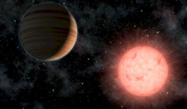 Astronomii au descoperit o exoplanetă gigant orbitând în jurul unei stele reci