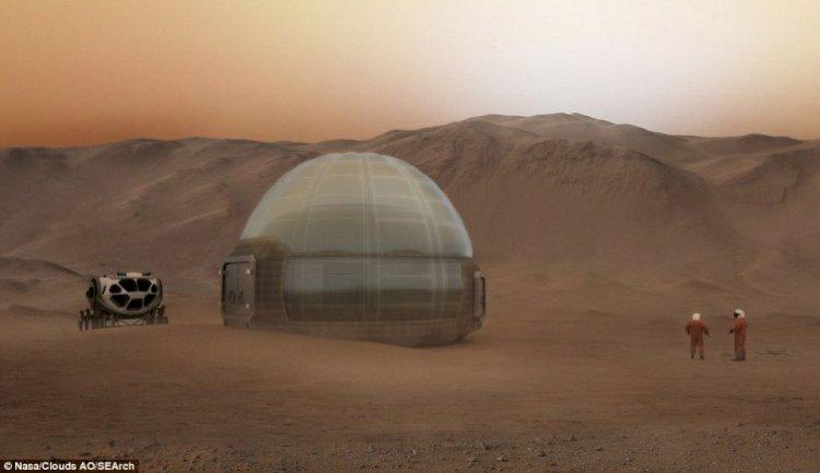 """Casele de gheaţă"""" în care vor trăi primii colonişti ai planetei Roşii"""