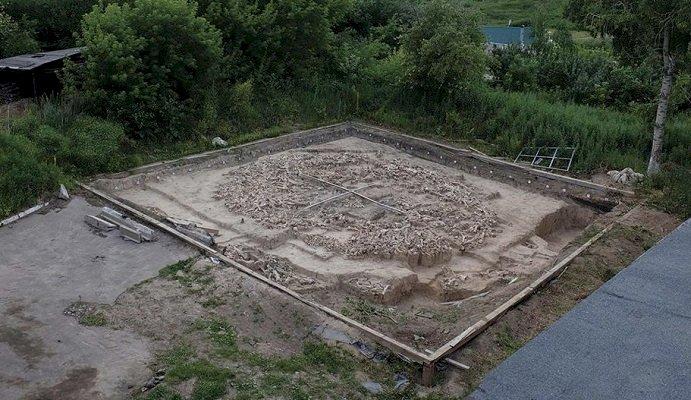 Descoperiea unei structuri din oase de mamut oferă noi detalii despre oamenii de Epoca de Gheaţă